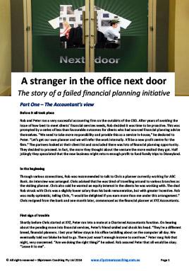 A stranger in the office next door